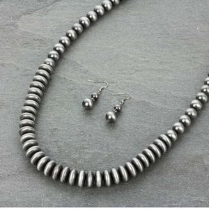 "Jewelry - 48"" Navajo Style Pearl Necklace Set"